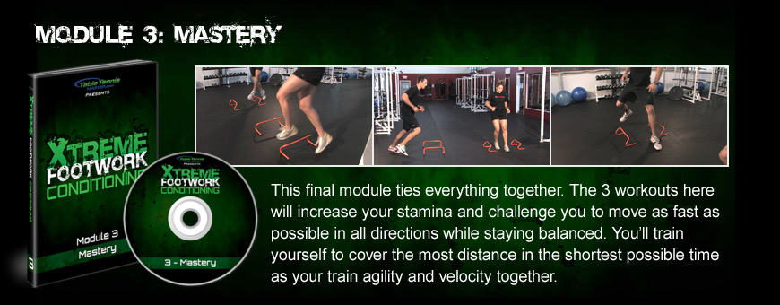 Module 3: Mastery - These workouts will increase your stamina and challenge you to move as fast as possible in all directions while staying balanced.
