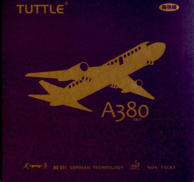 2.2 MM,36/° Black TUTTLE A380 SKY TABLE TENNIS RUBBER